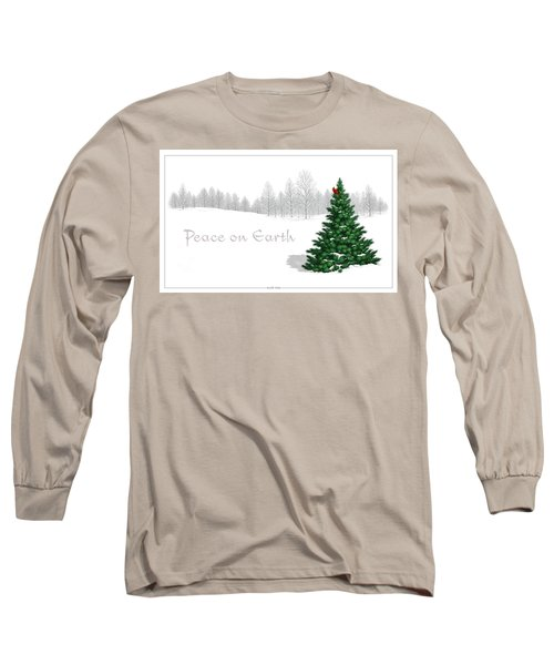 Peace On Earth Long Sleeve T-Shirt by Scott Ross