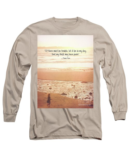 Long Sleeve T-Shirt featuring the photograph Peace by Peggy Hughes