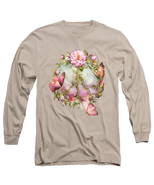 Peace Rose Long Sleeve T-Shirt