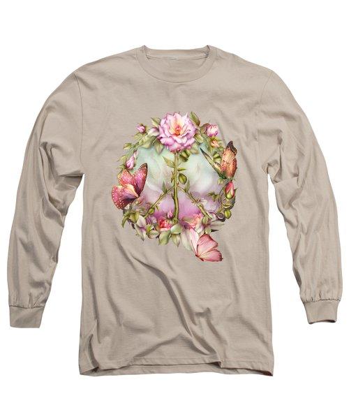 Peace Rose Long Sleeve T-Shirt