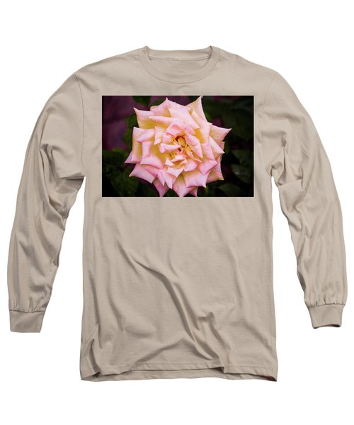Long Sleeve T-Shirt featuring the photograph Peace Rose by Donna G Smith