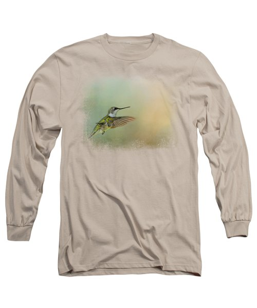 Peaceful Day With A Hummingbird Long Sleeve T-Shirt