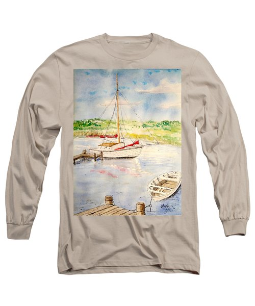 Peaceful Harbor Long Sleeve T-Shirt by Marilyn Zalatan