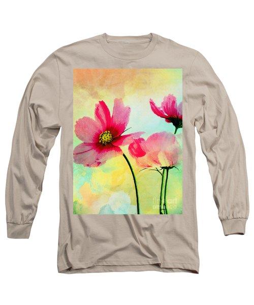 Long Sleeve T-Shirt featuring the digital art Peacefulness by Klara Acel