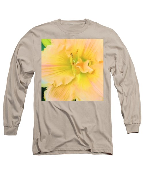 Peach Lily Long Sleeve T-Shirt