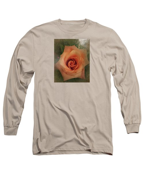 Peach Rose Long Sleeve T-Shirt