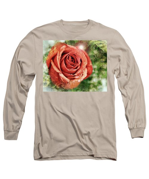 Peach Rose Long Sleeve T-Shirt