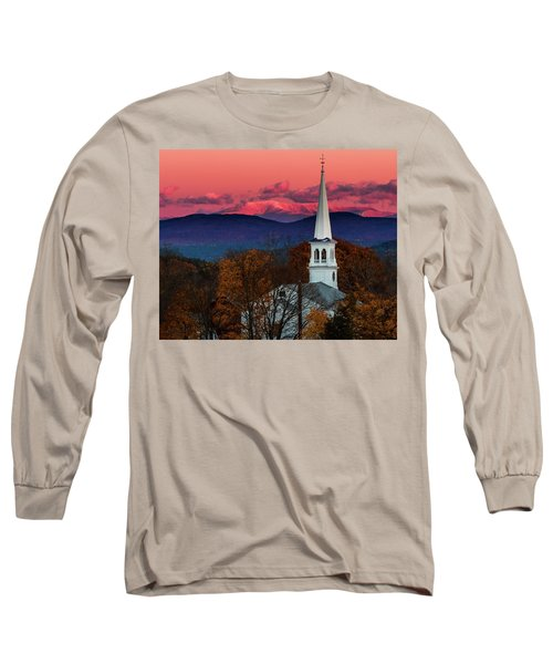 Peacham And White Mtn Sunset Long Sleeve T-Shirt by Tim Kirchoff