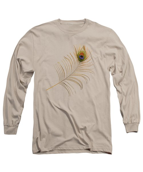 Peacock Feather Long Sleeve T-Shirt by Bradford Martin