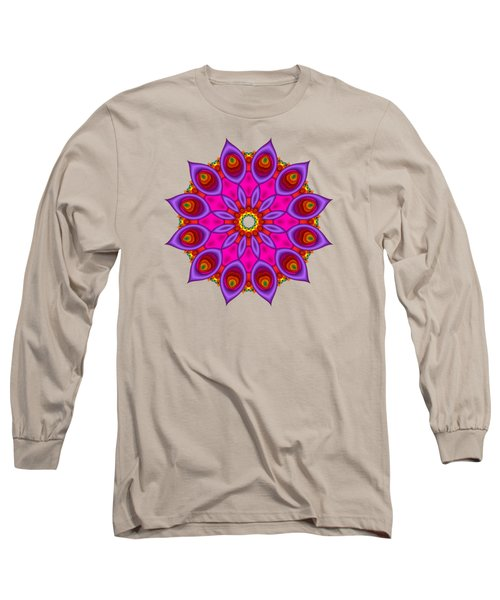 Peacock Fractal Flower II Long Sleeve T-Shirt