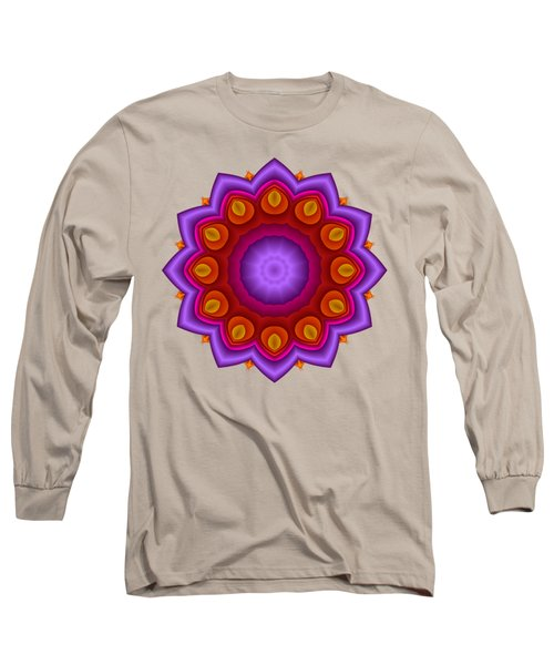 Peacock Fractal Flower Pretty Petals Long Sleeve T-Shirt