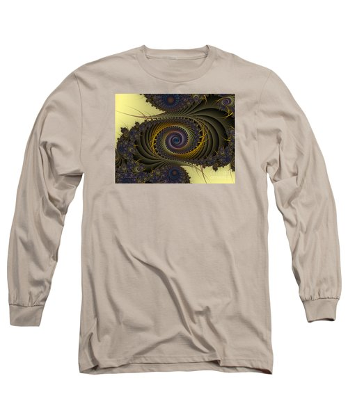 Long Sleeve T-Shirt featuring the digital art Peacock by Karin Kuhlmann