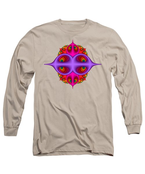 Peacock Peebles Fractal Long Sleeve T-Shirt