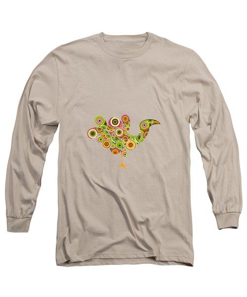 Peafowl Long Sleeve T-Shirt by BONB Creative