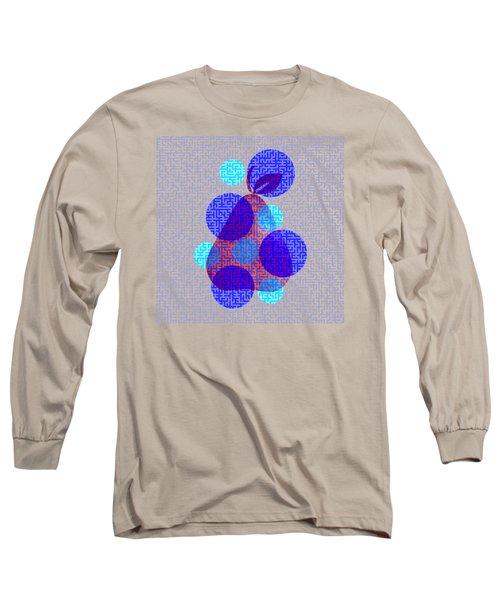 Pear In Blue Long Sleeve T-Shirt