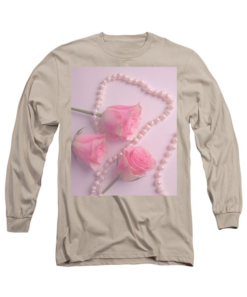 Pearls And Roses Long Sleeve T-Shirt