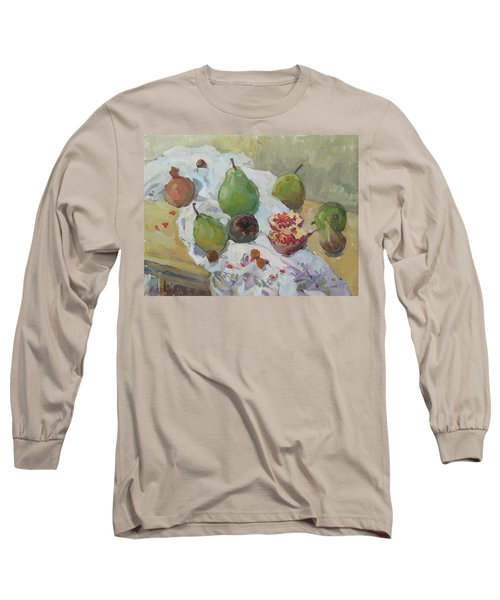 Pears Figs And Young Pomegranates Long Sleeve T-Shirt