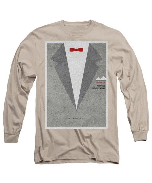 Pee-wee's Big Adventure Long Sleeve T-Shirt by Ayse Deniz
