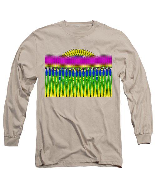 Peeking Sun Abstract By Kaye Menner Long Sleeve T-Shirt