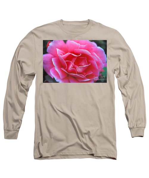 Long Sleeve T-Shirt featuring the photograph Peggy Lee Rose Bridal Pink by David Zanzinger
