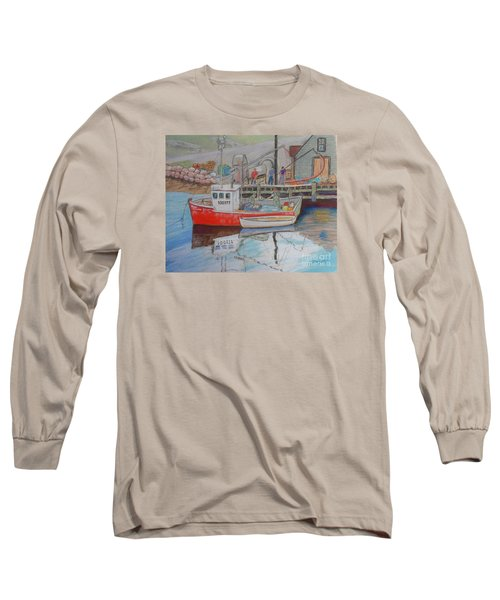 Peggy's Cove  Fishermen Long Sleeve T-Shirt by Rae  Smith
