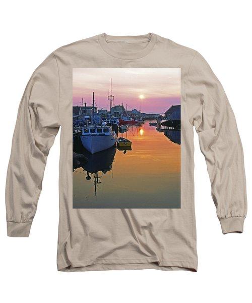 Peggy's Cove Sunset, Nova Scotia, Canada Long Sleeve T-Shirt