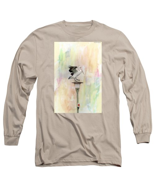 Long Sleeve T-Shirt featuring the photograph Pelican Beauty 000004 by Kevin Chippindall