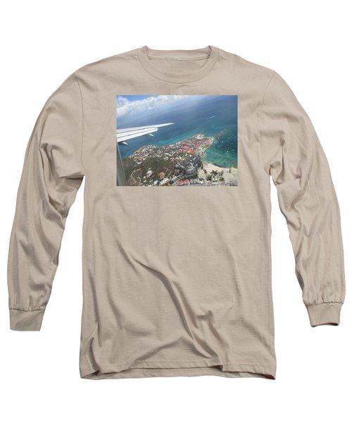Pelican Key St Maarten Long Sleeve T-Shirt by Christopher Kirby