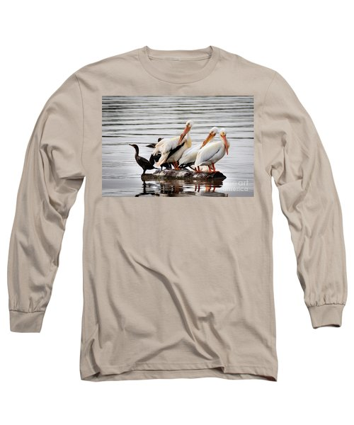 Pelicans And Cormorants Long Sleeve T-Shirt