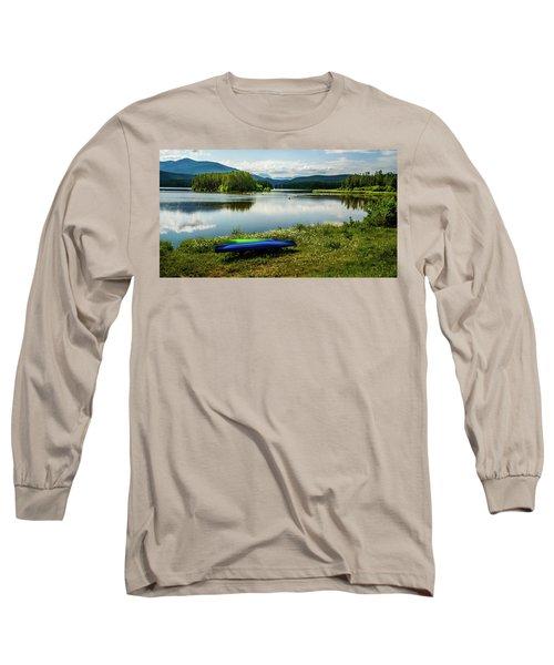 Pelicans At Shadow Mountain Lake Long Sleeve T-Shirt