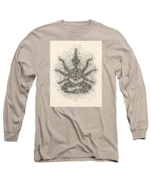 Pen And Ink Drawing Buddha  Long Sleeve T-Shirt