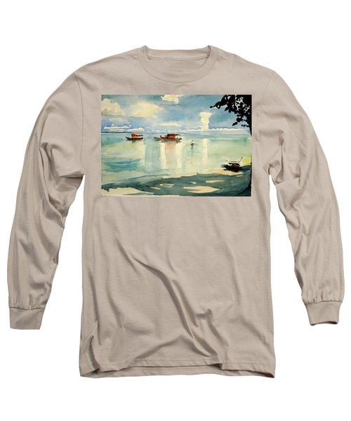 Penang Beach Long Sleeve T-Shirt by Tom Simmons
