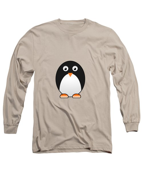 Penguin - Birds - Art For Kids Long Sleeve T-Shirt by Anastasiya Malakhova