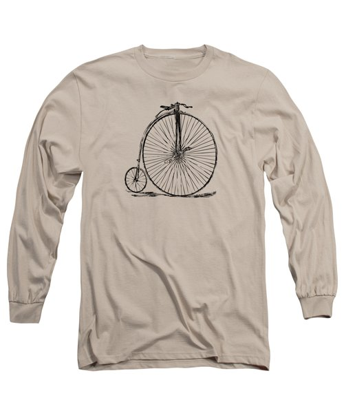 Penny-farthing 1867 High Wheeler Bicycle Vintage Long Sleeve T-Shirt