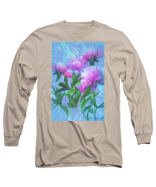 Peonies #3 Long Sleeve T-Shirt by John Selmer Sr