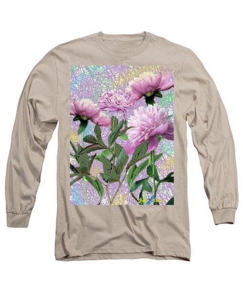 Peonies 6 Long Sleeve T-Shirt by John Selmer Sr
