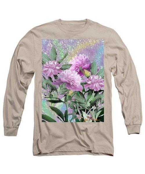 Peonies Long Sleeve T-Shirt by John Selmer Sr