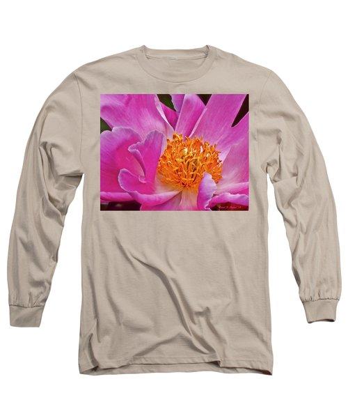 Pink Flower Peony Garden Wall Art Long Sleeve T-Shirt
