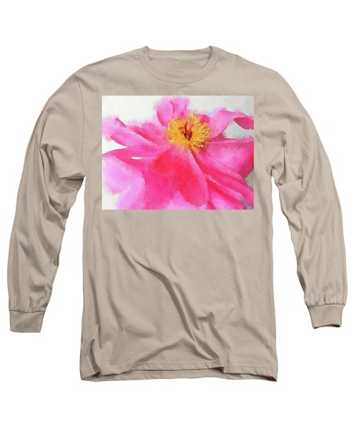 Long Sleeve T-Shirt featuring the digital art Peony by Mark Greenberg