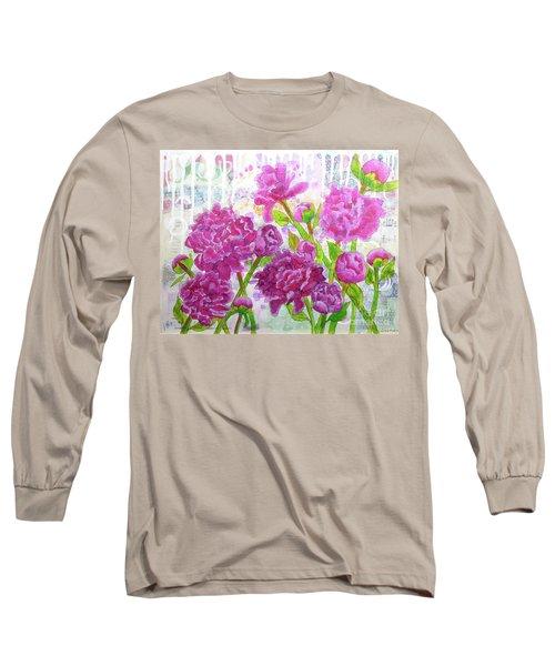 Peony Profusion Long Sleeve T-Shirt