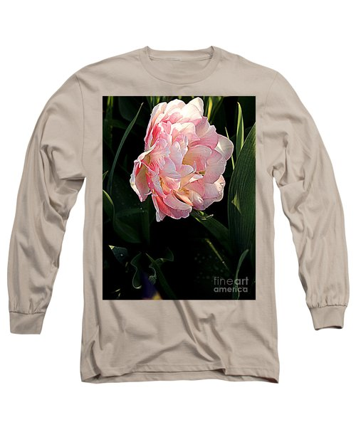 Long Sleeve T-Shirt featuring the photograph Peony Tulip by Nancy Kane Chapman