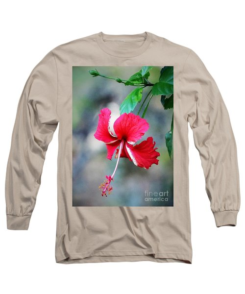 Peppermint Hibiscus Long Sleeve T-Shirt