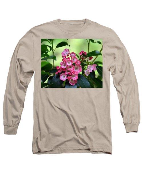 Peppermint Pink Mountain Laurel Long Sleeve T-Shirt