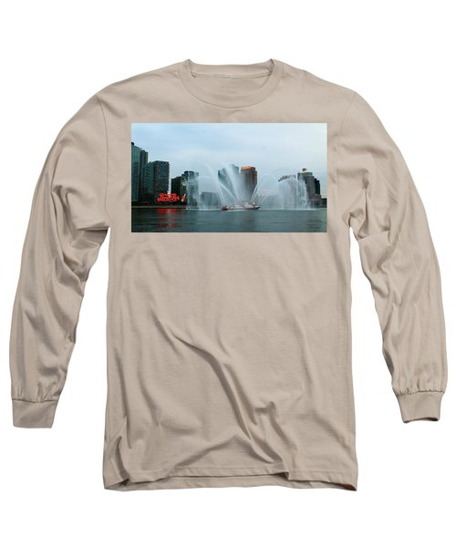 Pepsi Sign And Fdny  Long Sleeve T-Shirt by Catie Canetti