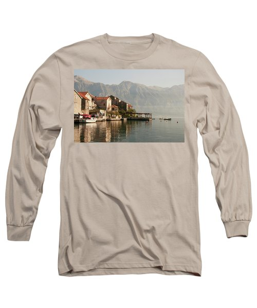 Perast Restaurant Long Sleeve T-Shirt by Phyllis Peterson