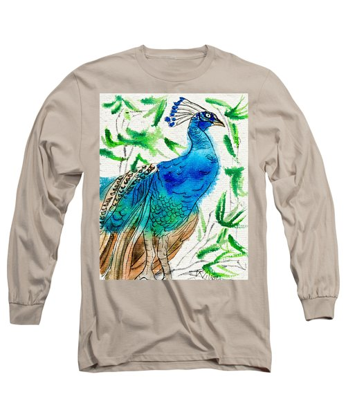 Perched Peacock I Long Sleeve T-Shirt