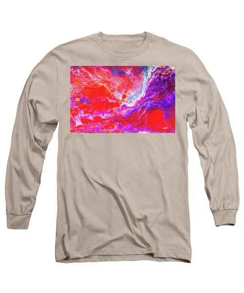 Perfect Love Storm - Colorful Abstract Painting Long Sleeve T-Shirt by Modern Art Prints