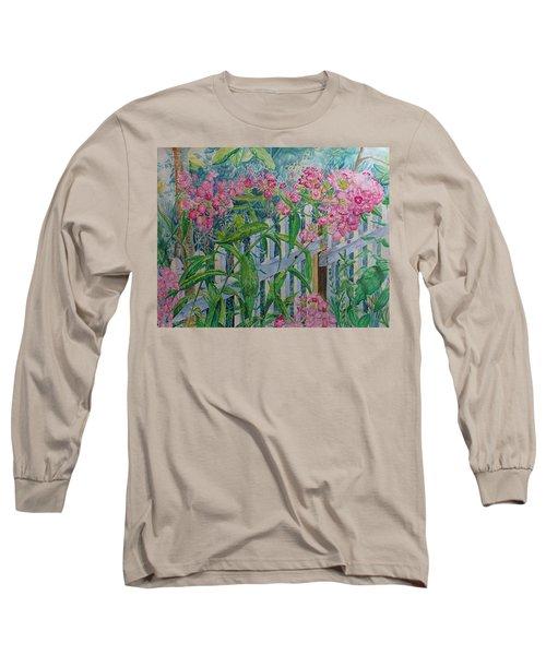Perky Pink Phlox In A Dahlonega Garden Long Sleeve T-Shirt