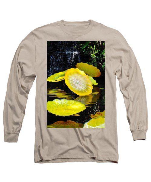 Persian Lily Pads Long Sleeve T-Shirt by Kyle Hanson