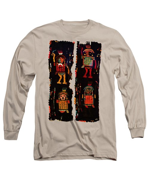 Long Sleeve T-Shirt featuring the digital art Peruvian Fab Art by Asok Mukhopadhyay